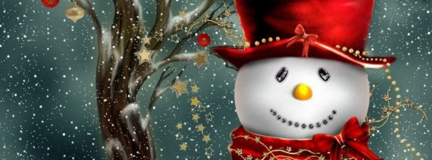 Snowman Facebook cover - Facebook timeline covers maker ...