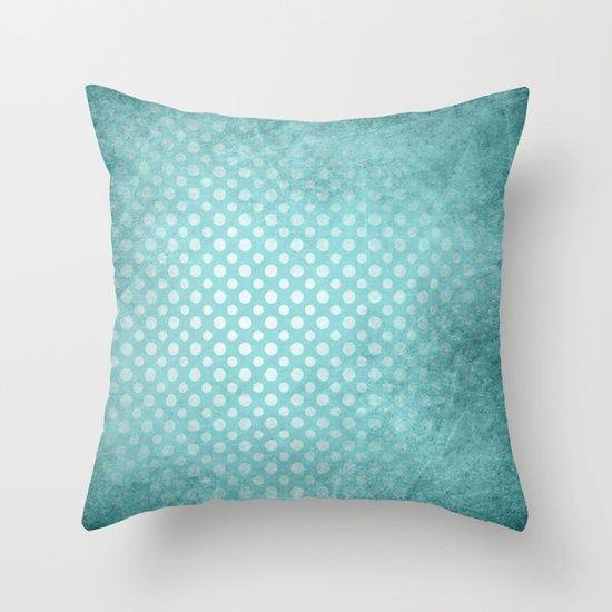 Beautiful textured limpet blue polka dot design by Wendy Townrow, graphic-design  texture  textured  blue  limpet-blue  spot  dot  polka-dot   pattern  fresh  modern  unique  cool  aqua, decor, home decor, pillow, throw pillow, cushion