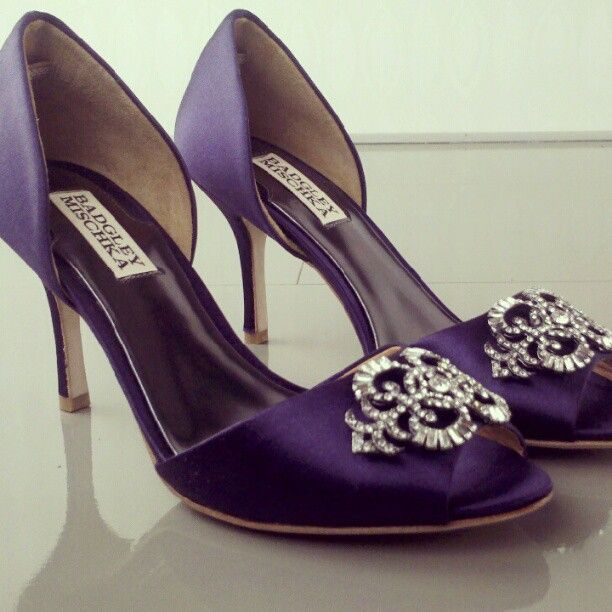"Best Seller ""Salsa"" from Badgley Mischka is coming soon in Purple Satin!"