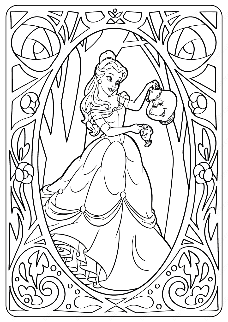 Disney Belle Pdf Coloring Pages Disney Princess Coloring Pages Disney Princess Colors Princess Coloring Pages