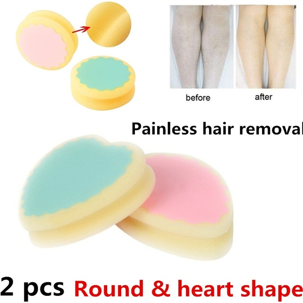 d7fddbd1ddc 2pcs Popular Magic Painless Depilation Sponge Pad Remove Hair Remover  Exfoliating Beauty Sponge Do Not Hurt