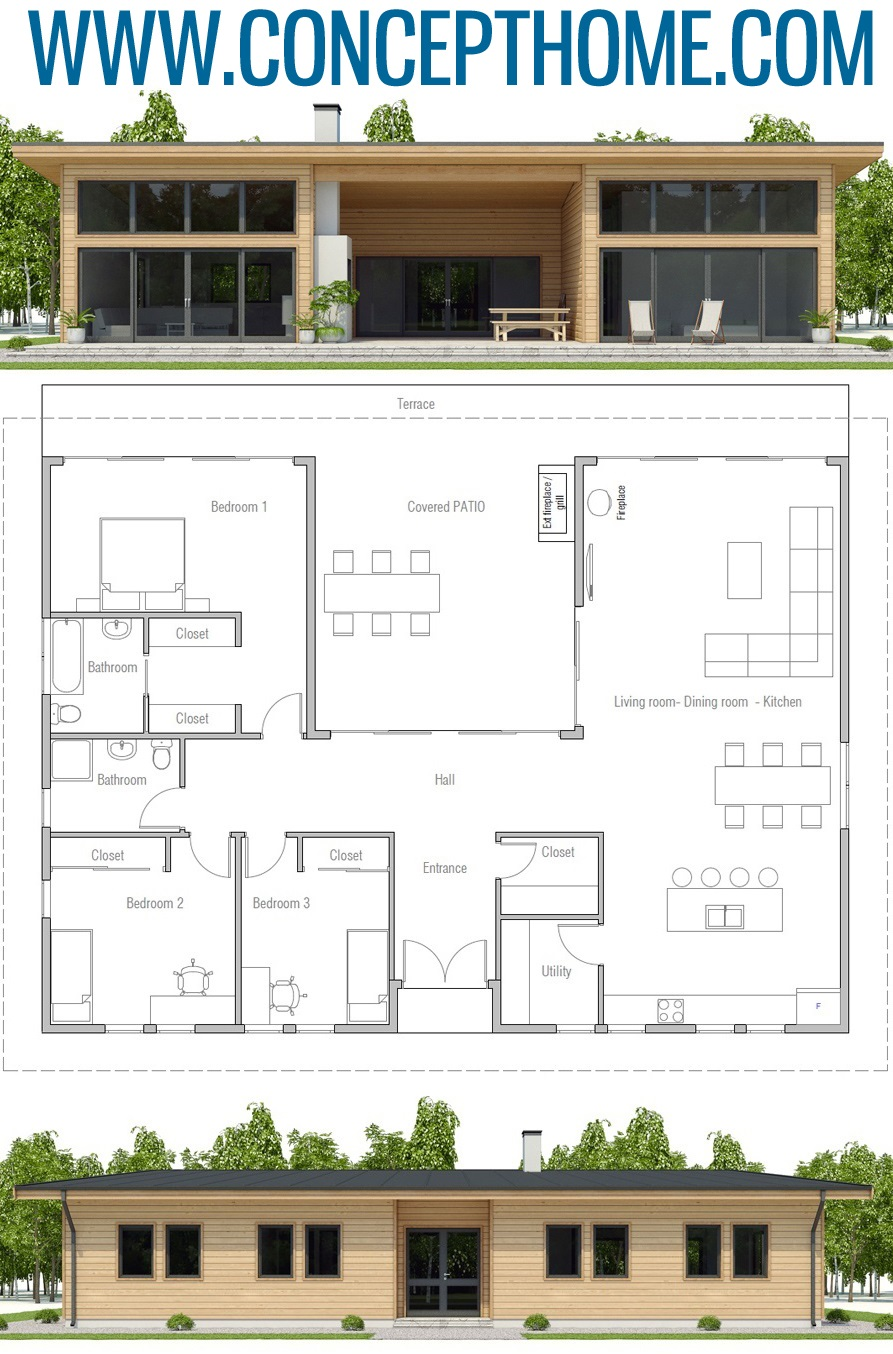 Modern Architecture Ch493 In 2020 House Plans Architecture