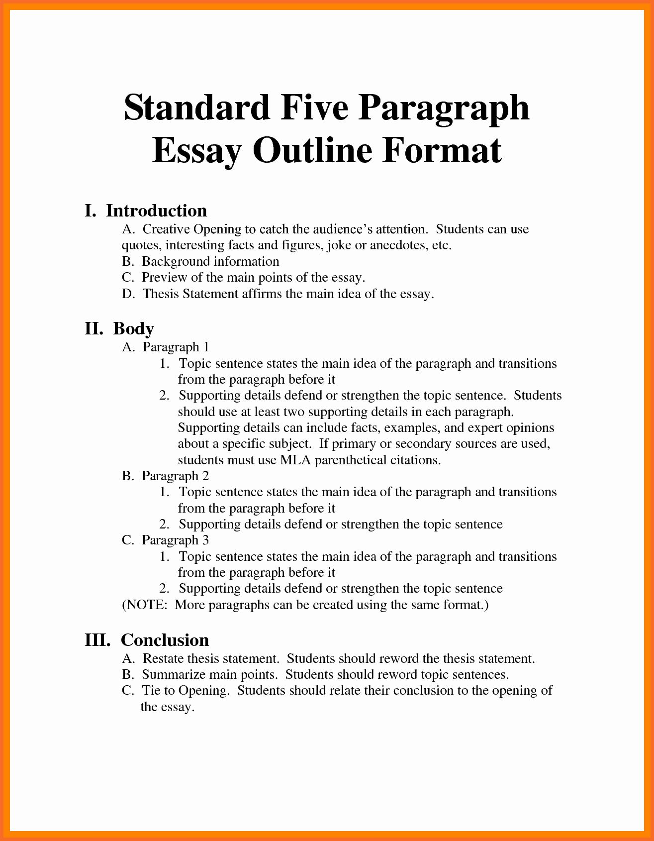 30 Essay Outline Mla In 2020 With Images Essay Outline Essay