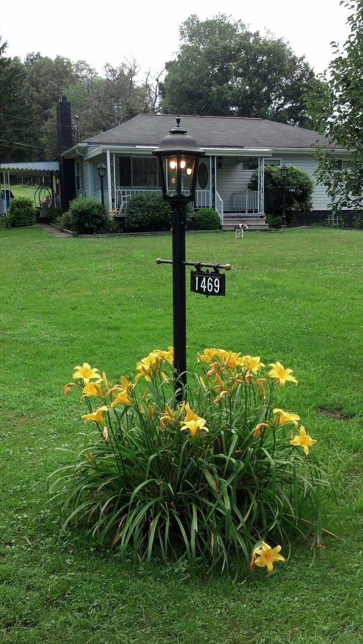 Address Plaque Gas Street Lamp Post