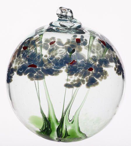 Kitras Hand Blown Art Glass Sympathy Blossom Witch Ball Glass Blowing Hand Blown Glass Glass Art