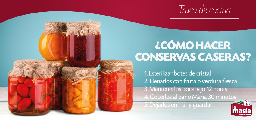 ¿Te gustaría aprender a hacer tus propias #conservas de #fruta y #verdura? ¡Te encantarán! Toda la información, en nuestro #BlogLa Masía.