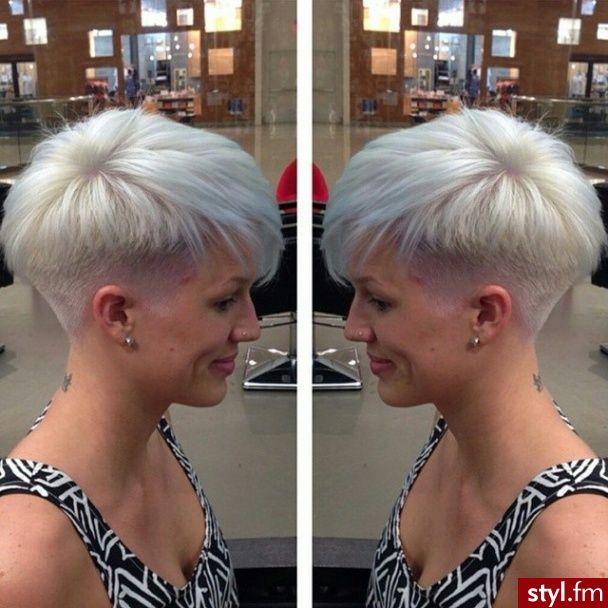 Fryzury Blond Włosy Fryzury Krótkie Na Co Dzień Proste Z