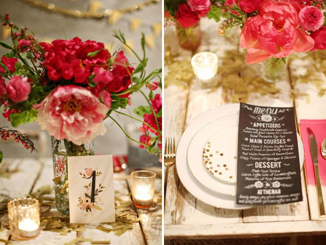 Gold + Pink Wedding Inspiration