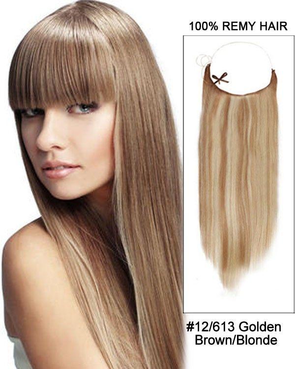 14 32 Inch Straight Secret Human Hair Extensions 12 613 Golden