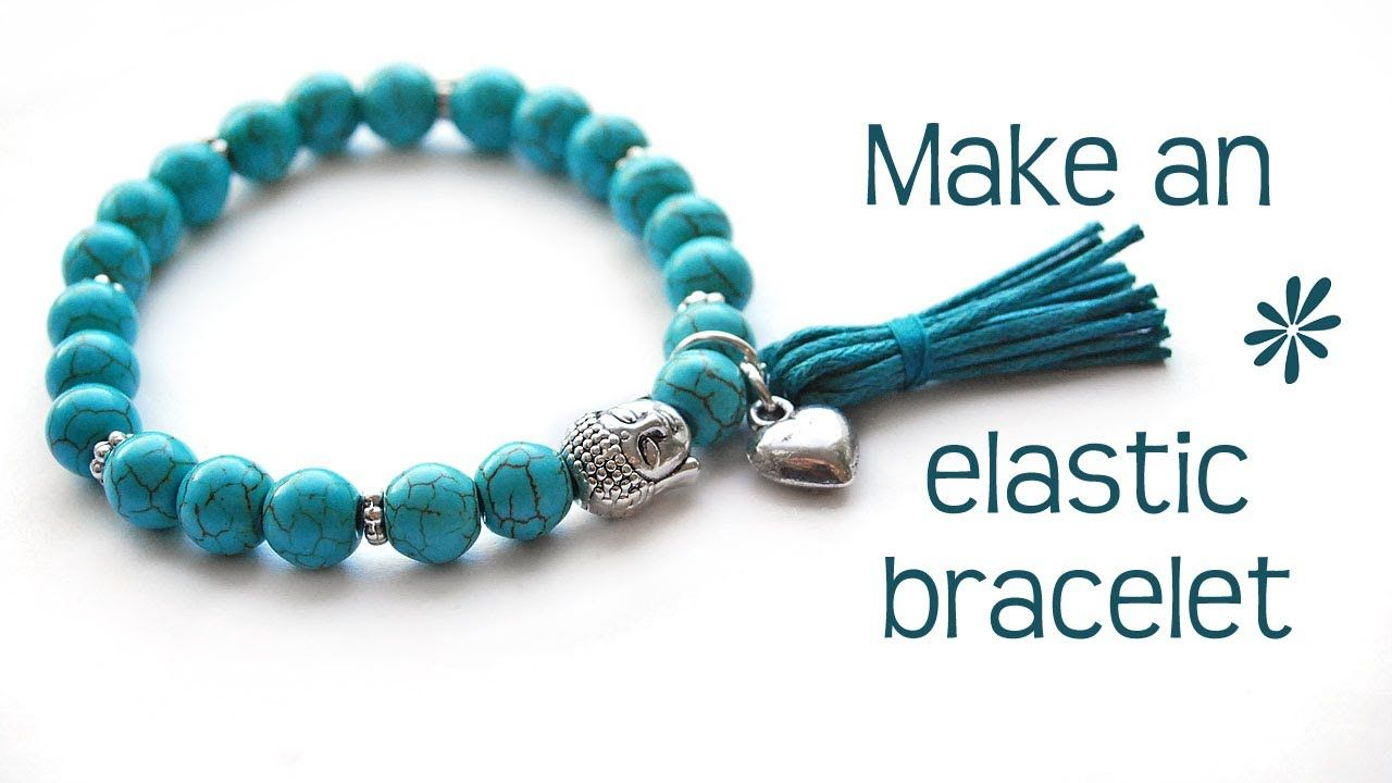 Make a stretch elastic bracelet