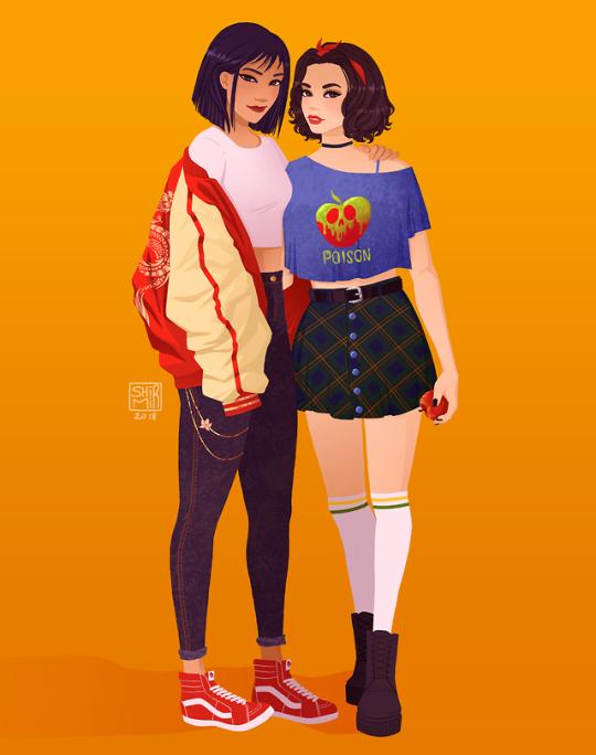 Modern Mulan And Snow White Hipster Disney Princess Disney Princess Outfits Hipster Disney