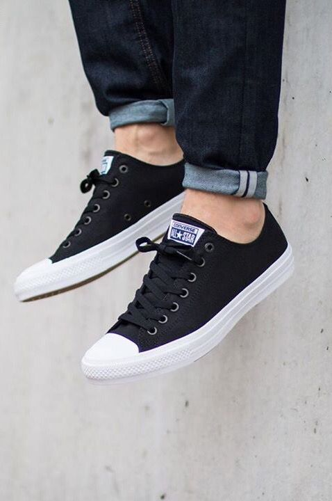fc5085c8 Converse Chuck Taylor All Star II Ox: Black | outfits † | Zapatos ...