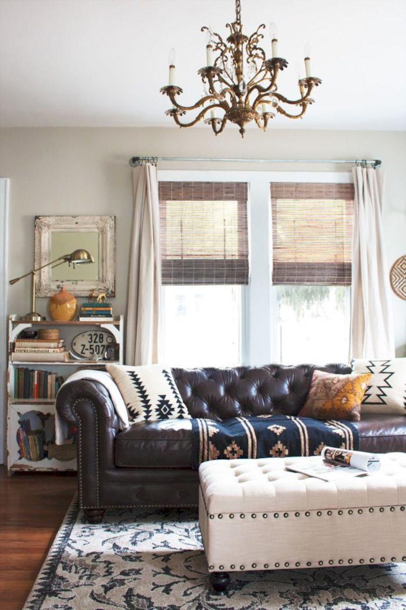 Rustic living room curtains design ideas (37   Living room curtains ...