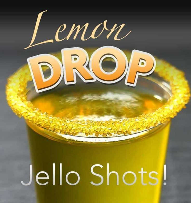 Lemon Drop Jello Shots #jelloshots