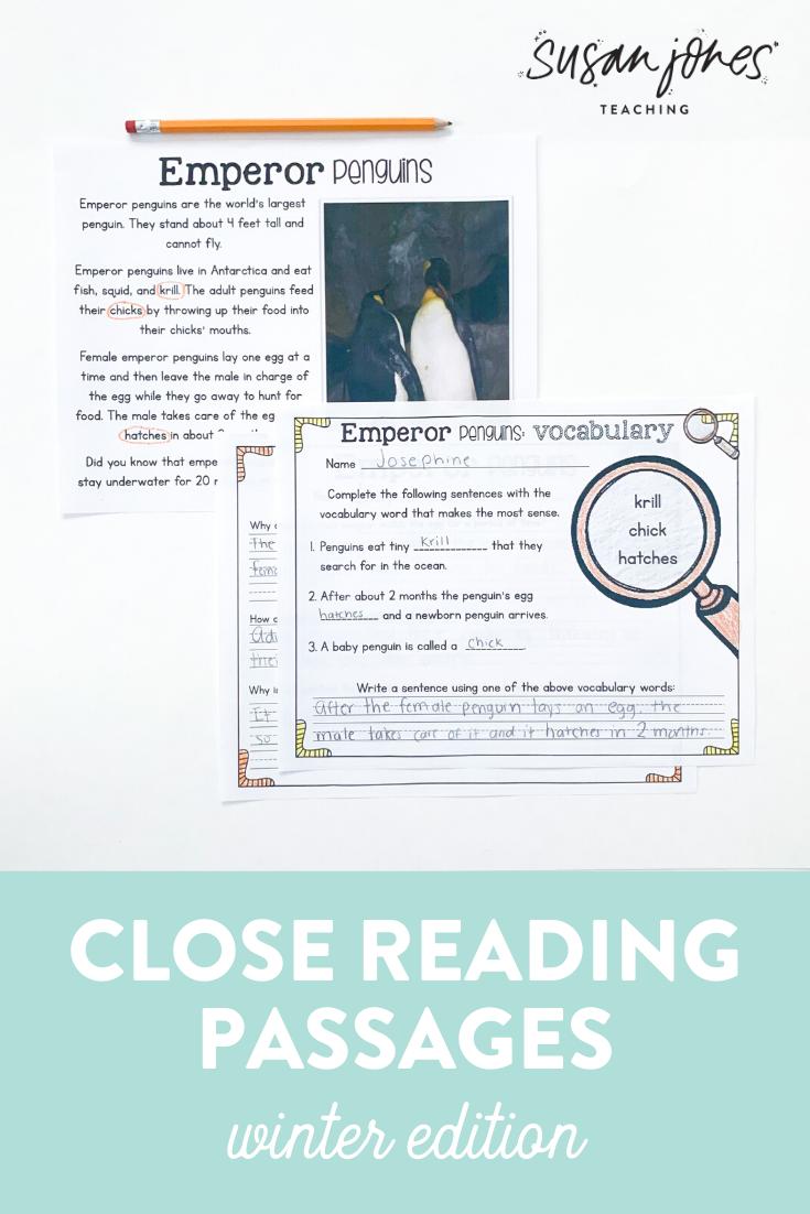 Close Reading Passages Winter Edition Close Reading Passages Reading Passages Close Reading Strategies [ 1102 x 735 Pixel ]