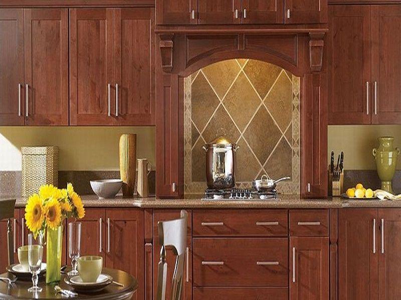 Eden Rustic Alder Sangria Kitchen Cabinets ~ http://lanewstalk.com ...