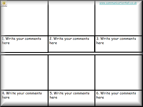 Comic Writing  Storyboard    Book Report Templates