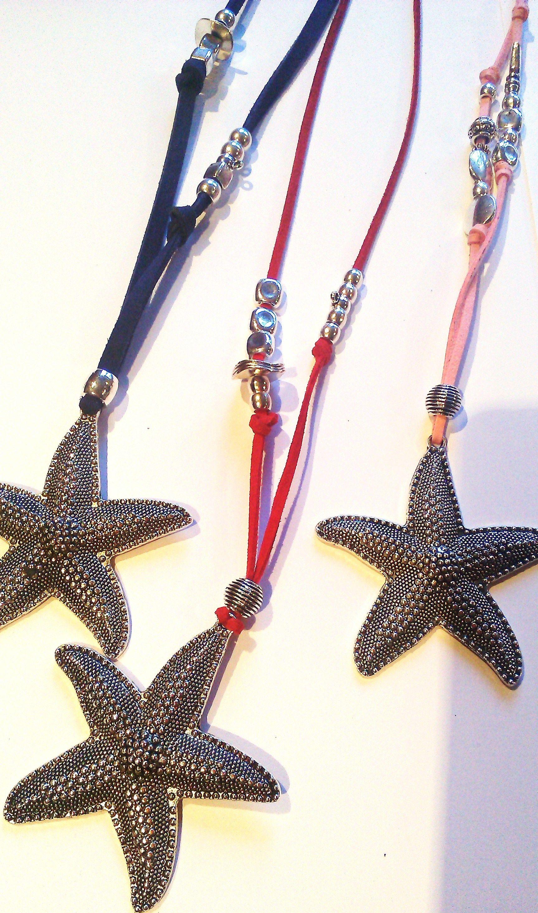 collares veraniegos de antelina y estrella de mar