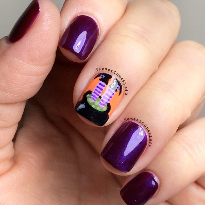 30+Creative but Easy Halloween Nails Designs You Can Copy