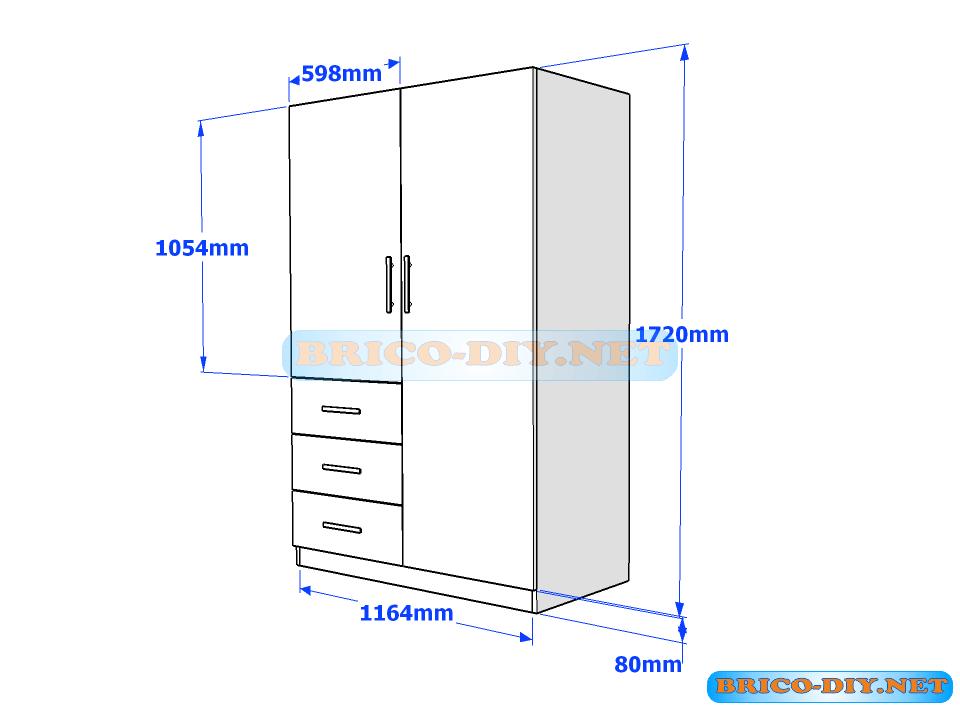 Plano ropero de melamina muebleria pinterest planos for Planos de carpinteria de madera