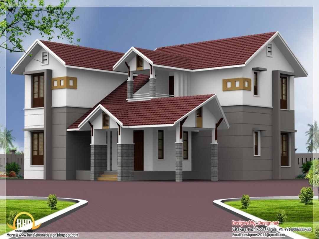 Grey Light Grey Red Red Roof House Roof Design House Exterior