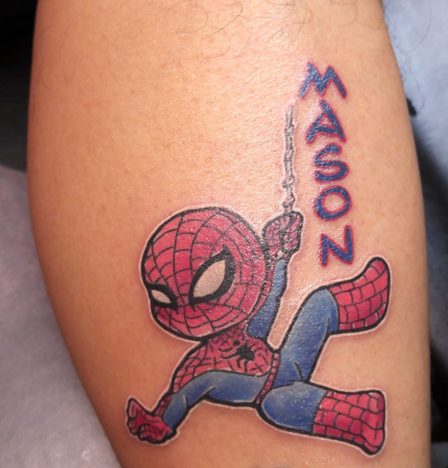 b209c98c0 Cool small Spiderman tattoo done by our guest artist Rob! | Tattoo ...