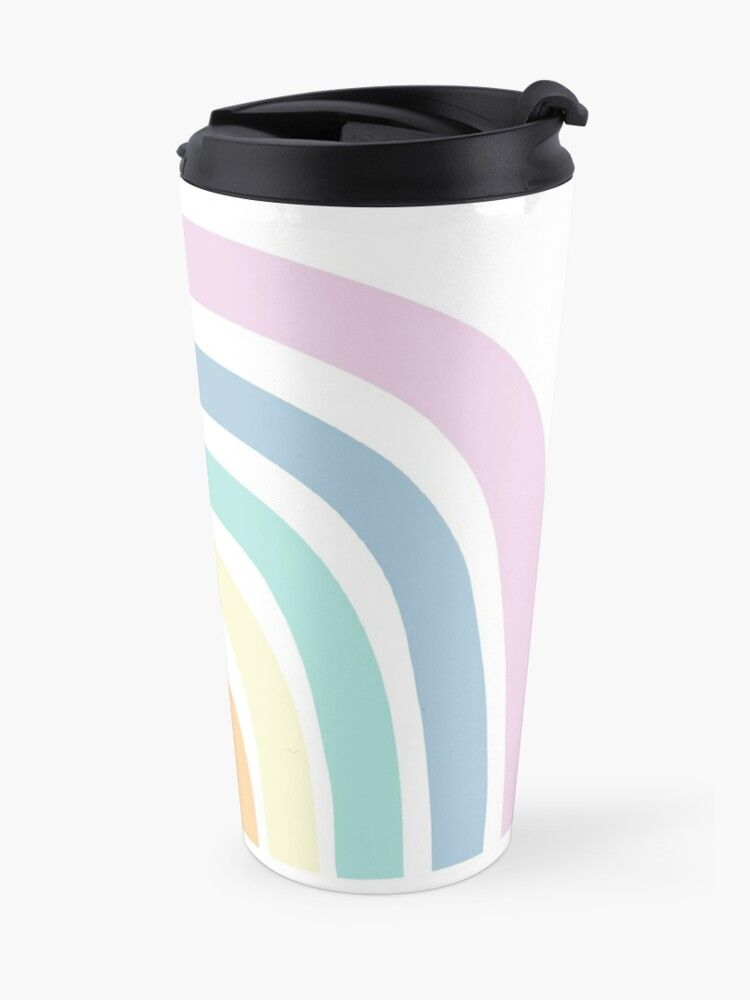 Rainbow Travel Mug In 2020 Mugs Mug Designs Rainbow