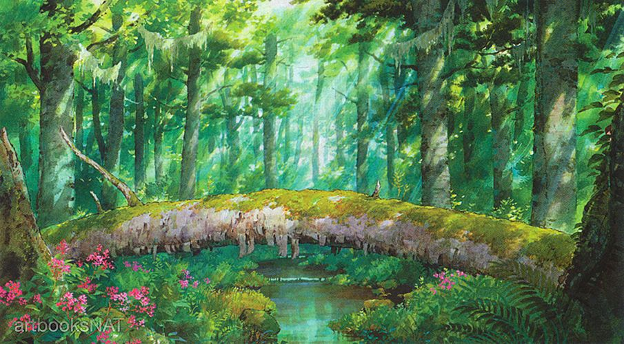 artbooksnatBackground art from the Studio Ghibli film