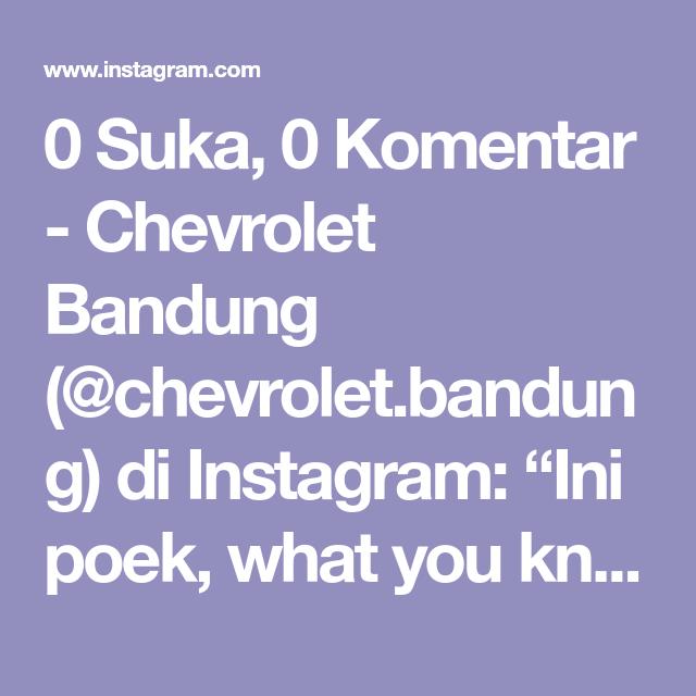 Pin Di Chevrolet Bandung