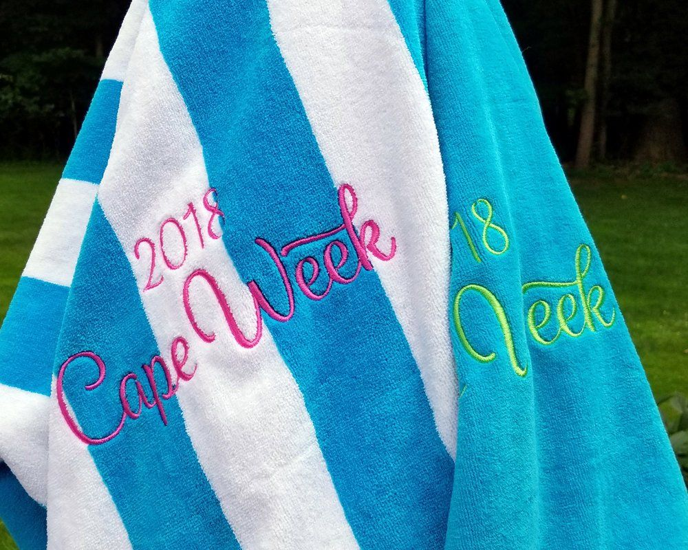 Large Monogrammed Beach Towels.Extra Large Personalized Beach Towel Bridesmaid Gift