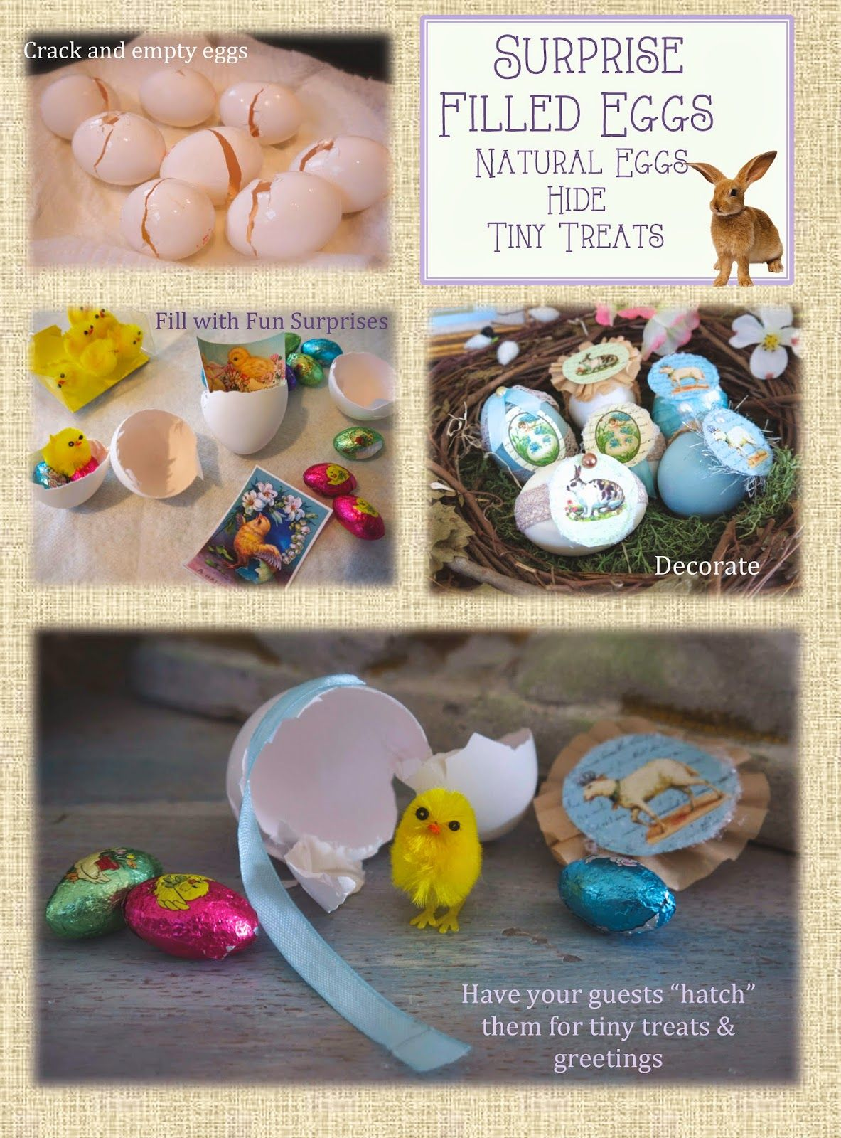 """""""real"""" treat filled Easter eggs- easy how to's"""