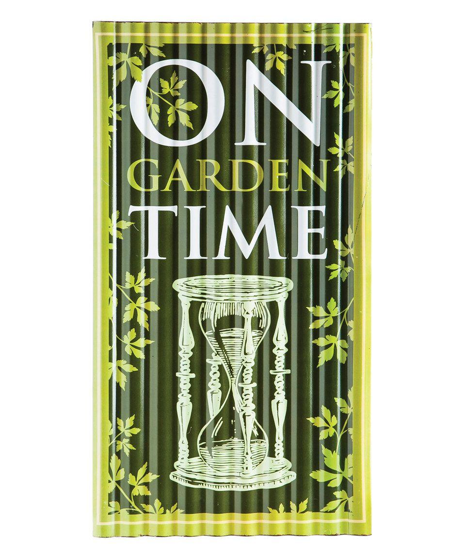 Look At This #zulilyfind! 'On Garden Time' Corrugated