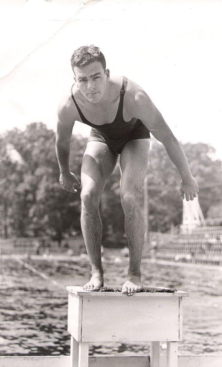 Unknown date.   *mens vintage swimwear   Pinterest