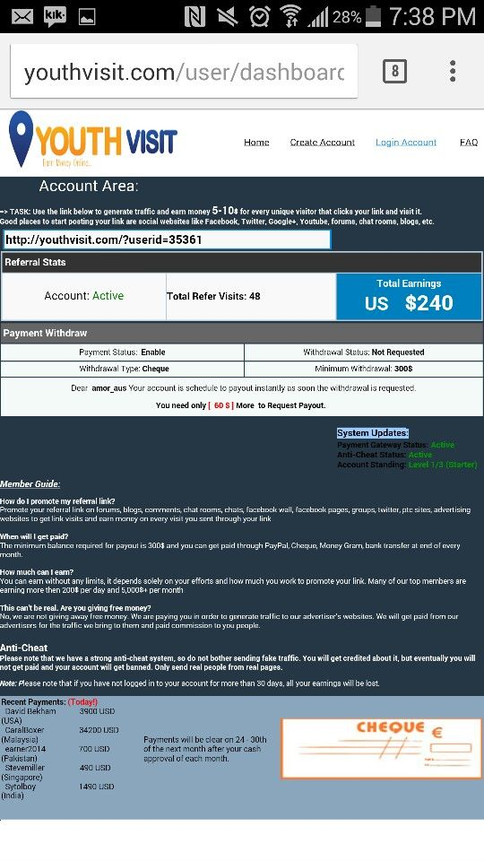 Make money by clicking the link http://youthvisit.com/?userid=35361