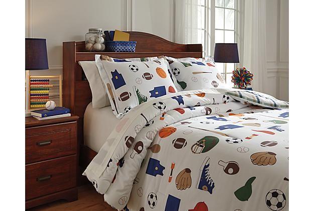 Kids Bedding Sports Themed Varias 3, Ashley Furniture Bryant Ar