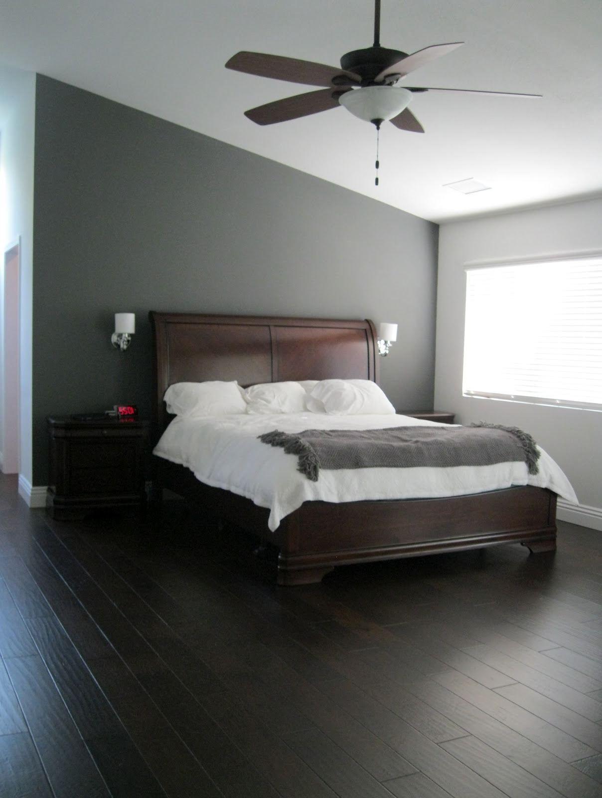 Grau Schlafzimmer Wände Weiß Duals Floating Nachttisch