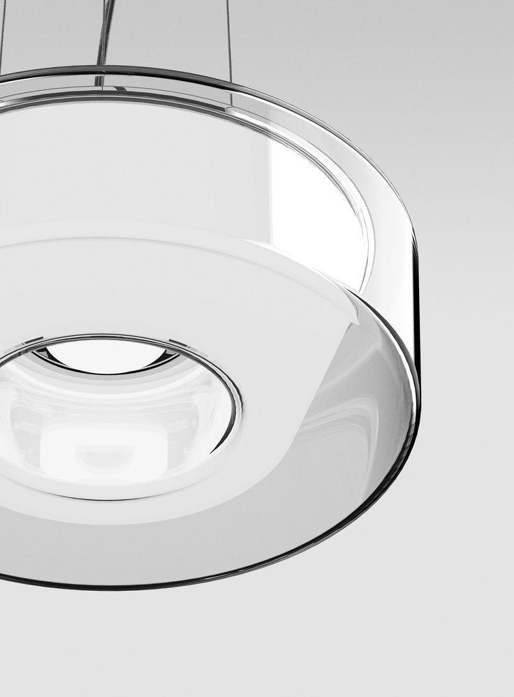 Serien Lighting Curling Suspension Rope Klar Konisch Opal Light