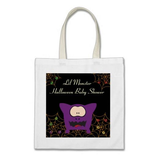 Funny Monster Baby Shower Tote Bag