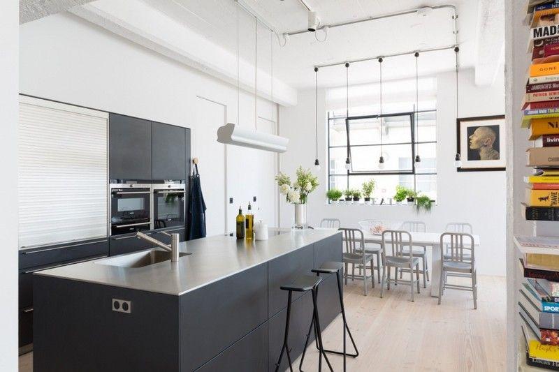 West London Loft Apartment by Nia Morrison Studio Kitchens