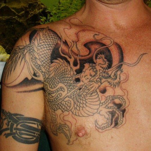 Dragon Shoulder Tattoo Ideas Tatoo Pinterest Tatouage