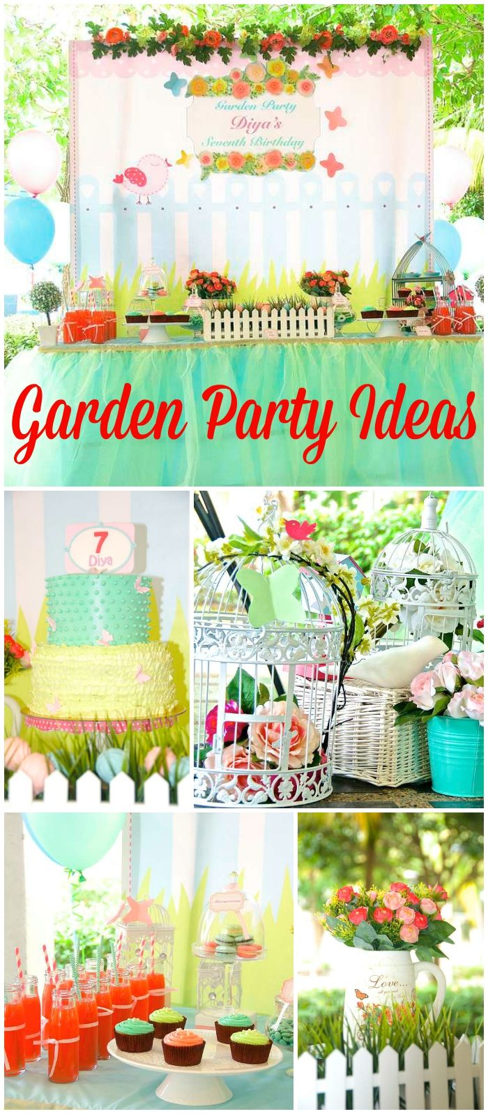 Garden birthday garden themed bday party gardens birthdays 10th birthday parties heres a lovely flower garden izmirmasajfo