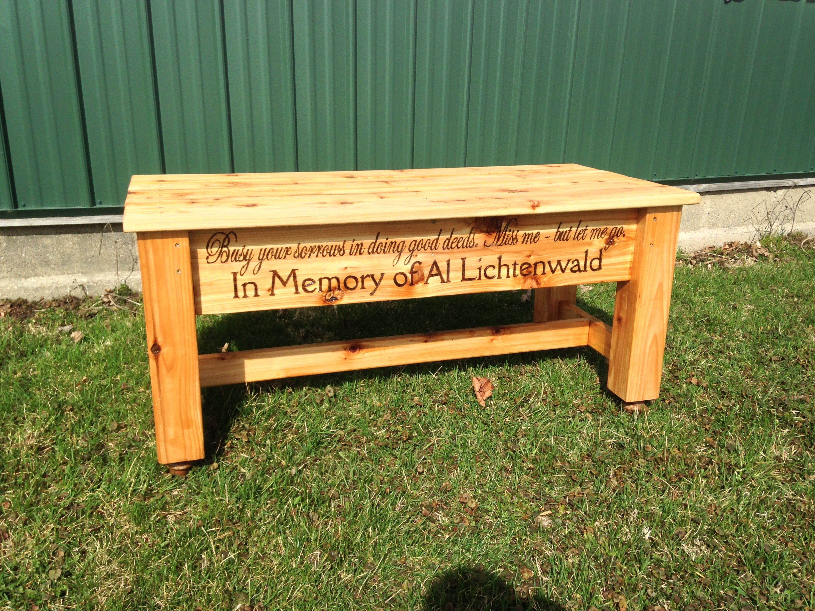 Astounding Memory Bench Made From Cedar Hand Cut Mortise And Tenon Machost Co Dining Chair Design Ideas Machostcouk