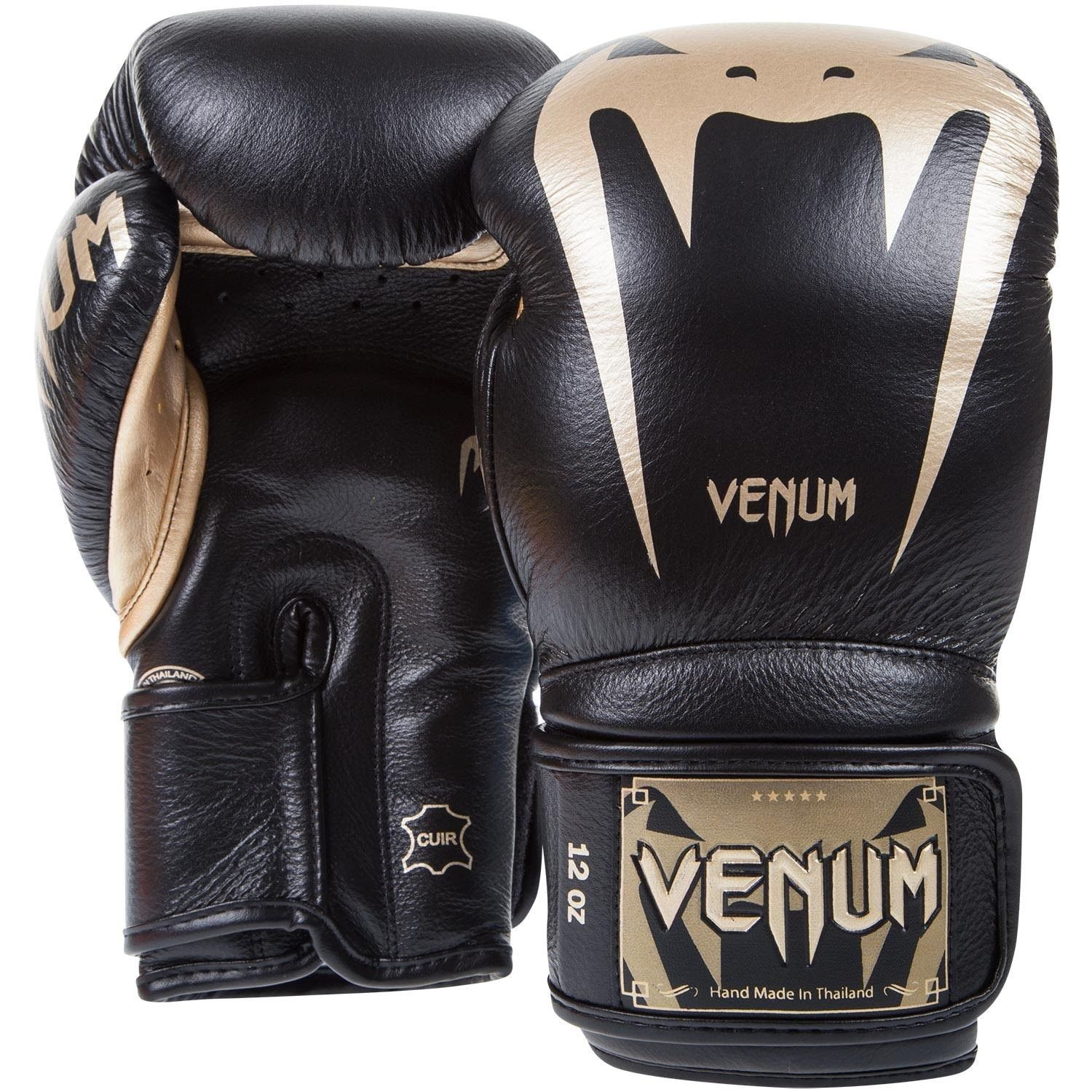 MMA Training Sparring VENUM GIANT 3.0 BOXING GLOVES BLACK//GOLD