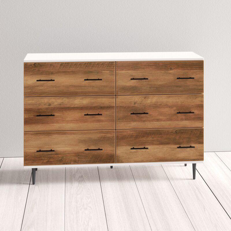 Luisa 52 Wide 6 Drawer Sideboard Reviews Allmodern Furniture Modern Dresser Modern Wood