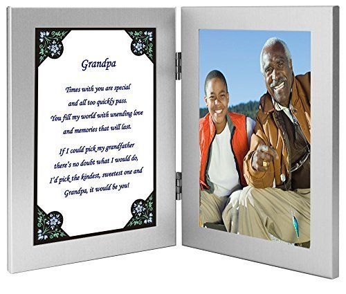 Christmas Gift for Grandpa Grandfather Poem in Double Frame Photo ...