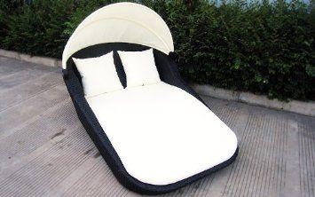 Baidani Design Rattan Lounge Doppel Liege Sunray Braun Meliert Amazon De Garten 489 Lounge Rattan Design