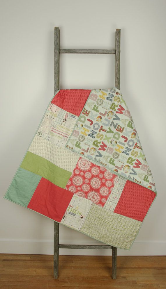 Baby/toddler quilt large modern handmade by abbeyshousequilts, $115.00