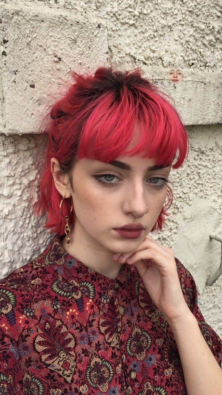 hot orange aesthetic hair colors