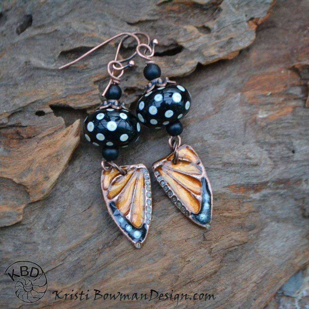 how to make butterfly wing earrings
