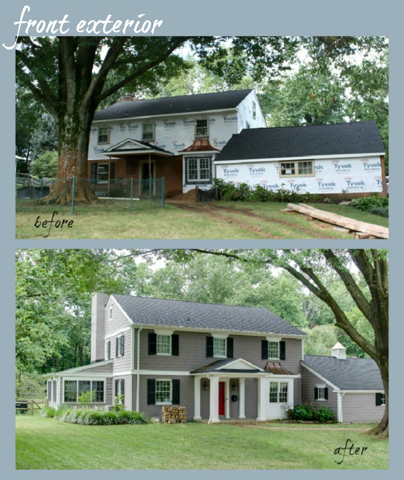 Home Exterior Renovation Before And After dilwyne designs - before & after : wilmington home renovations